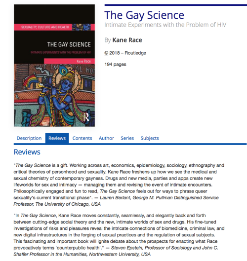 The Gay Science flyer