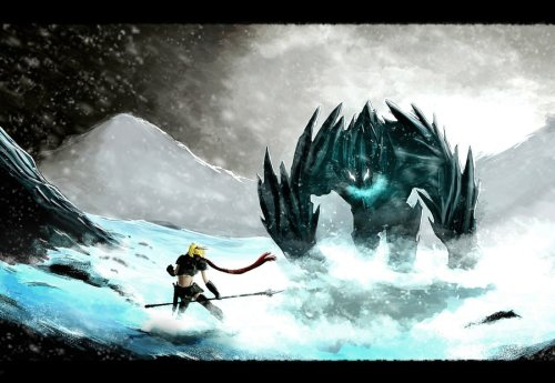 the_princess_and_the_ice_monster_by_mongorap-d5g0owj